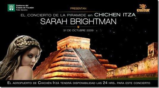 Yucatan Holidays & Sarah Brightman in Chichen Itza