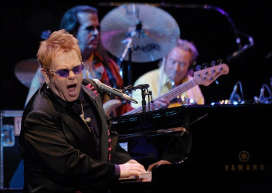 Elton John Performs at Chichen Itza