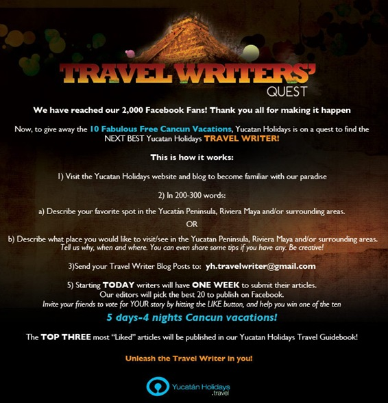 Yucatan Holidays Travel Writers Quest