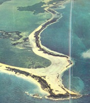 This is how Punta Cancun looked like, back in 1970.