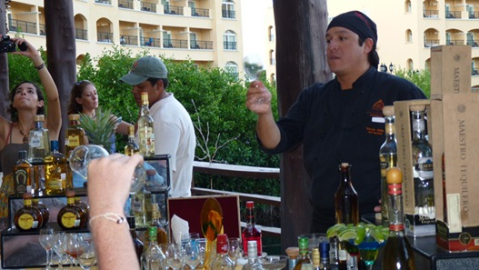 Chef Oscar explains how to drink tequila.