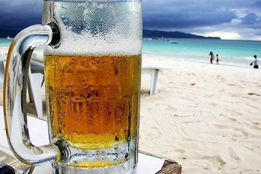 Beer & beach. Can it get any better?