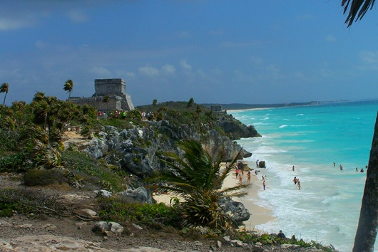 The ancient Mayan city of Tulum