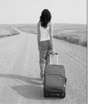 Take a walk with empty suitcases