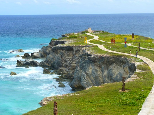 Sculpture Park in the southern tip of Isla Mujeres