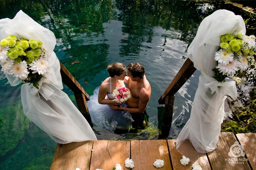 Off the Path! A cenote wedding!