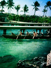 The canoeists and Xcaret