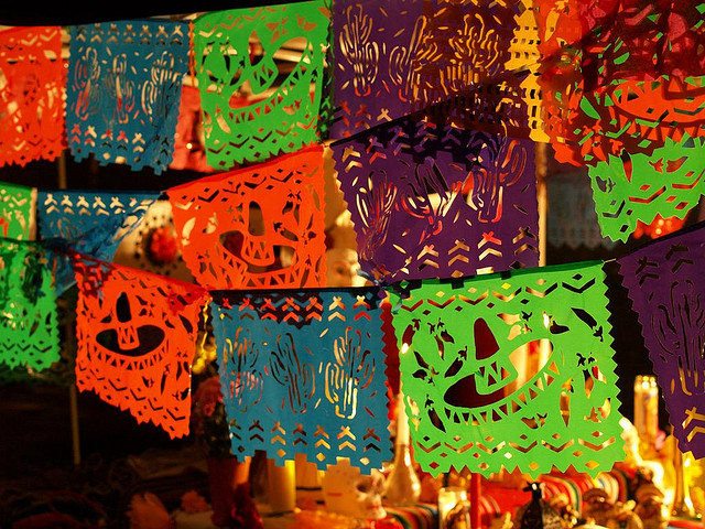 Mexican paper decorations
