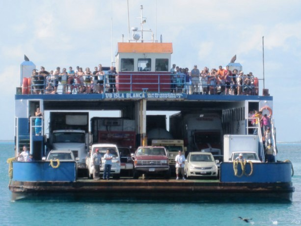 car ferry to Isla Mujeres