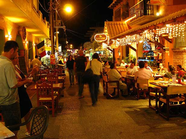 Isla Mujeres Mexico at night